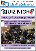 It's Quiz Night this Friday at the club starts 8pm!