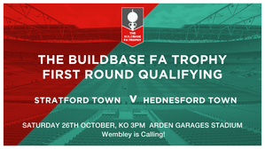 We host Hednesford Town this Saturday 26th October KO 3pm