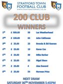 October's 200 CLUB Winners Announced!
