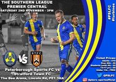 Next match; We visit Peterborough Sports on Saturday November 2nd KO 3pm