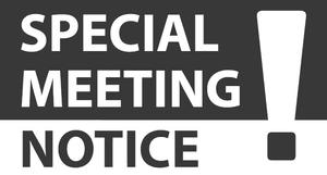 Notice of Special General Meeting of  Alcester & Ragley Park Cricket Club