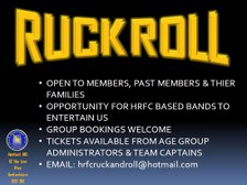 Ruck n Roll 2 Summer Party
