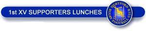1st XV Supporters Lunches