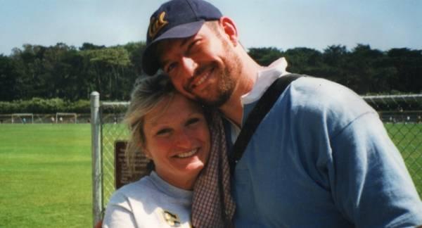 Mark Bingham with his mother Alice Hoglan