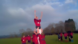 Oil on canvas Ath v Jimmies Nov 2011