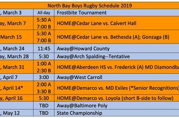 Boys Spring 2019 Schedule