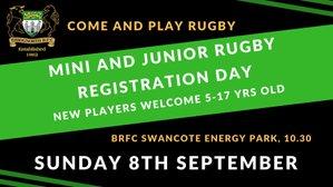 Mini and Junior Registration Day 2019