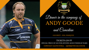 Dinner in the company of Andy Goode