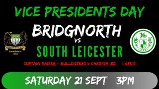 Vice Presidents Day Saturday 21st September.
