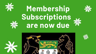 Membership Subscriptions are now due.