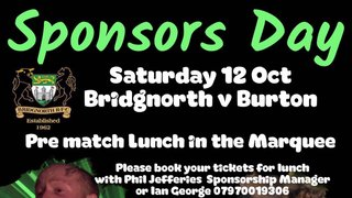 12th October Sponsors Day Lunch
