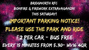 This Saturday - Fireworks Important Parking Notice!