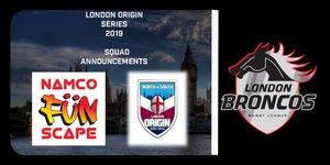 12 EELS make the London Broncos & Namco UK Ltd name Origin Squads