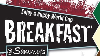 Rugby World Cup Breakfast....