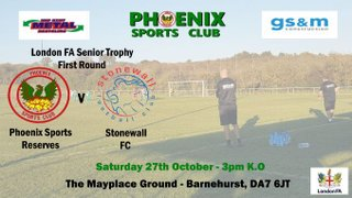 Phoenix Sports Reserves v Stonewall FC