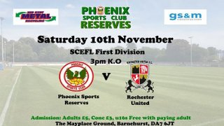 Phoenix Sports Reserves v Rochester United