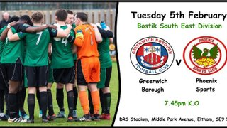Greenwich Borough v Phoenix Sports