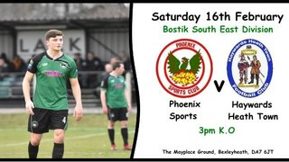 Phoenix Sports v Haywards Heath Town