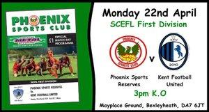 Phoenix Sports Res. 0-5 Kent Football United