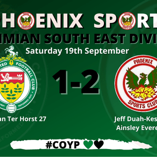 Ashford United 1-2 Phoenix Sports