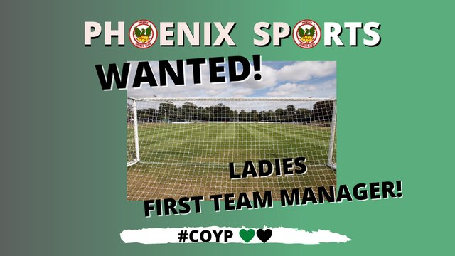 VACANCY! Ladies First Team Manager