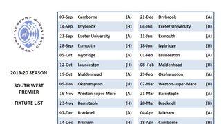 Blues fixtures 2019-20