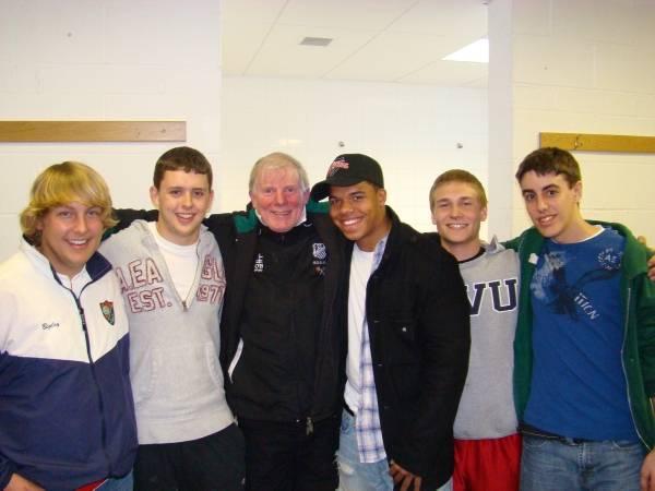 Anthony Bigley, Ryan Monk, World-Renowned Irish Rugby Legend Ollie Campbell, Adam Tildon, Brenton Violante, and Craig McDonell in Ireland.