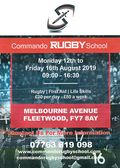 Commando Rugby School at FRUFC Rugby, Monday to Friday, First Aid & Life Skills