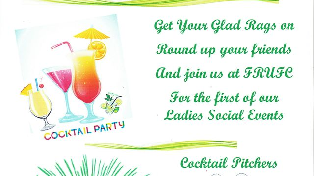 LADIES COCKTAIL EVENING - Friday 30th Aug - 8:00 pm - ROOF APPEAL EVENT