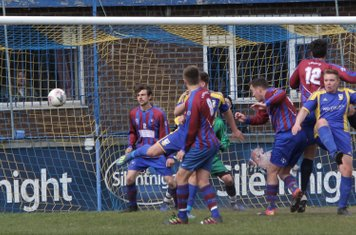 Michael Dale scores Town's 4th in the 90th minjute