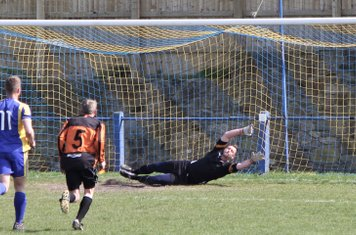 Nathan Taylforth scores Town's 2nd goal from the penalty spot