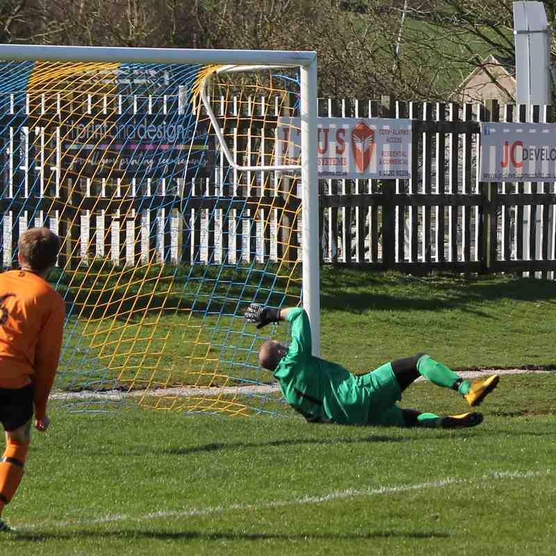 James Hughes scores Town's third goal