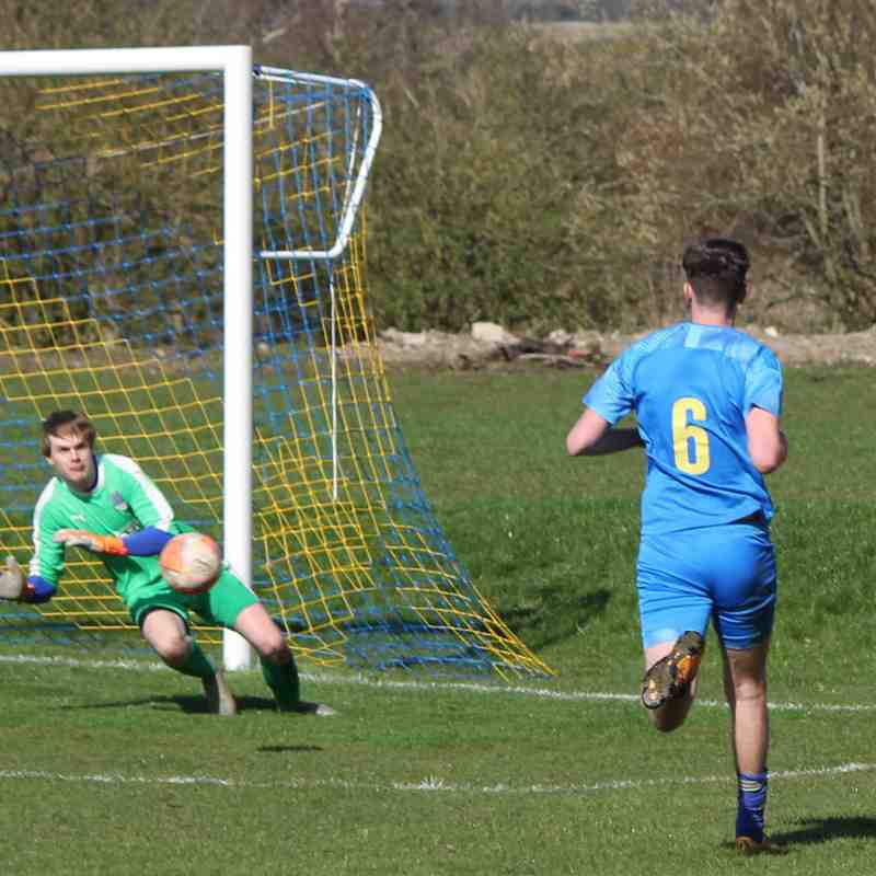 George Irvine saves from Michael Hodson.