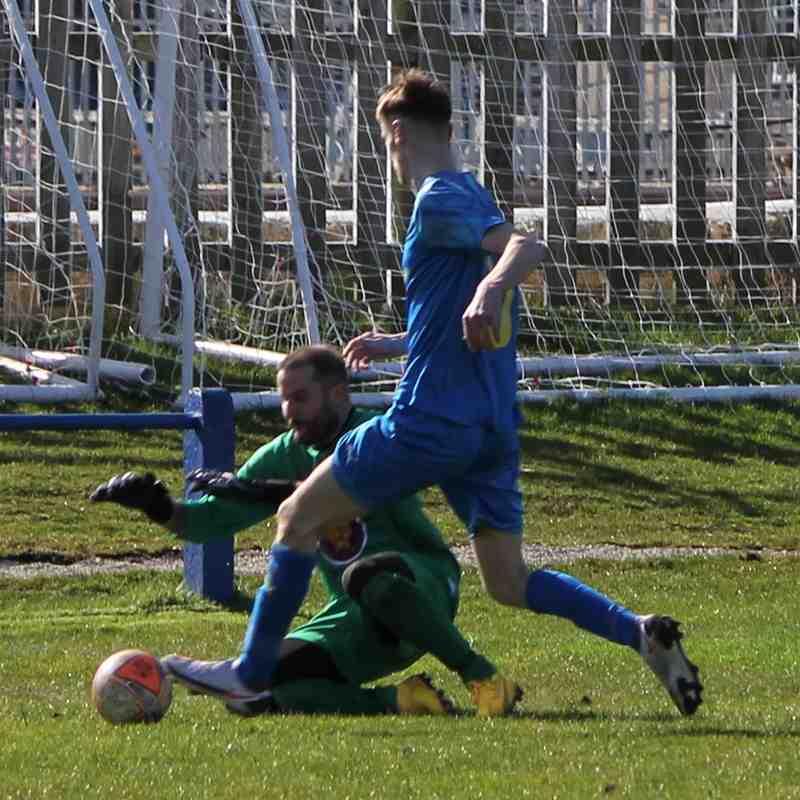 James Dacey saves from Luke Ramsden.