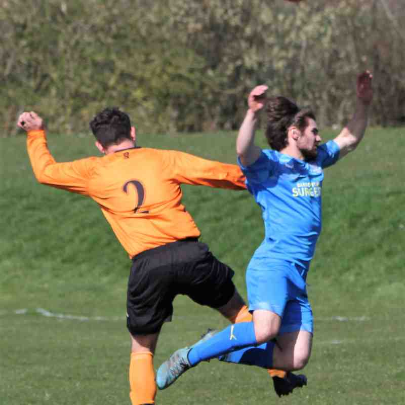 Tom Goodall is brought down by Matthew Terry for Town's penalty.