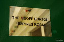 The Geoff Burton Umpires Room