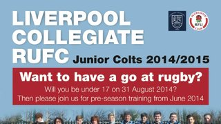 U17 / Junior Colts Recruitment Poster