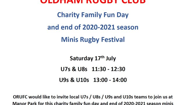 Oldham Rugby - Minis Festival 2021