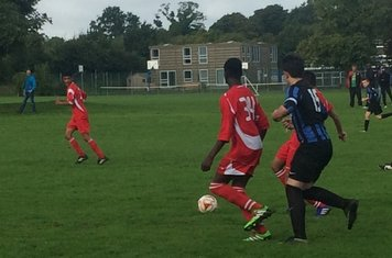 Action from the Blues U15 16-2 win