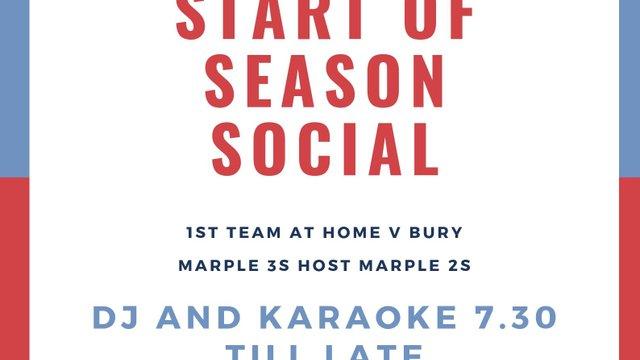 Start of the season social