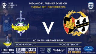 Great game in store tonight at Grange Park v Worcester City - kick off 7:45pm