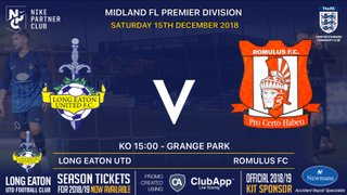 The Blues face the Roms at home this Saturday - 15th December