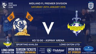 Great game in store as the Blues travel to Sporting Khalsa tomorrow - Saturday 26th January