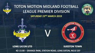 Less than 2 weeks to go before we welcome table topping Ilkeston Town to Grange Park......