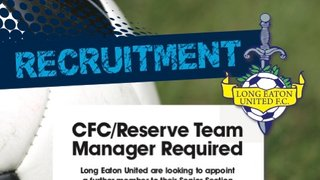 LONG EATON UNITED ARE LOOKING TO RECRUIT A NEW CFC/RESERVE TEAM MANAGER