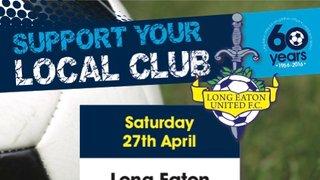 Last game of the Season - Long Eaton United v Lye Town - tomorrow at Grange Park - 3pm