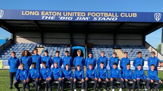 Long Eaton United Academy Class of 2019/20 gather at Grange Park