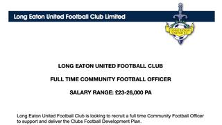 FULL TIME COMMUNITY FOOTBALL OFFICER OPPORTUNITY