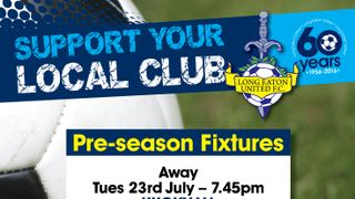 Final 3 Pre-season fixtures confirmed starting on Tuesday 23rd July away at Hucknall