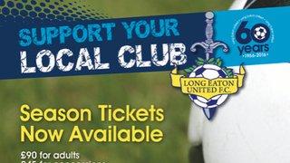 Long Eaton United 2019/20 Season Tickets now available